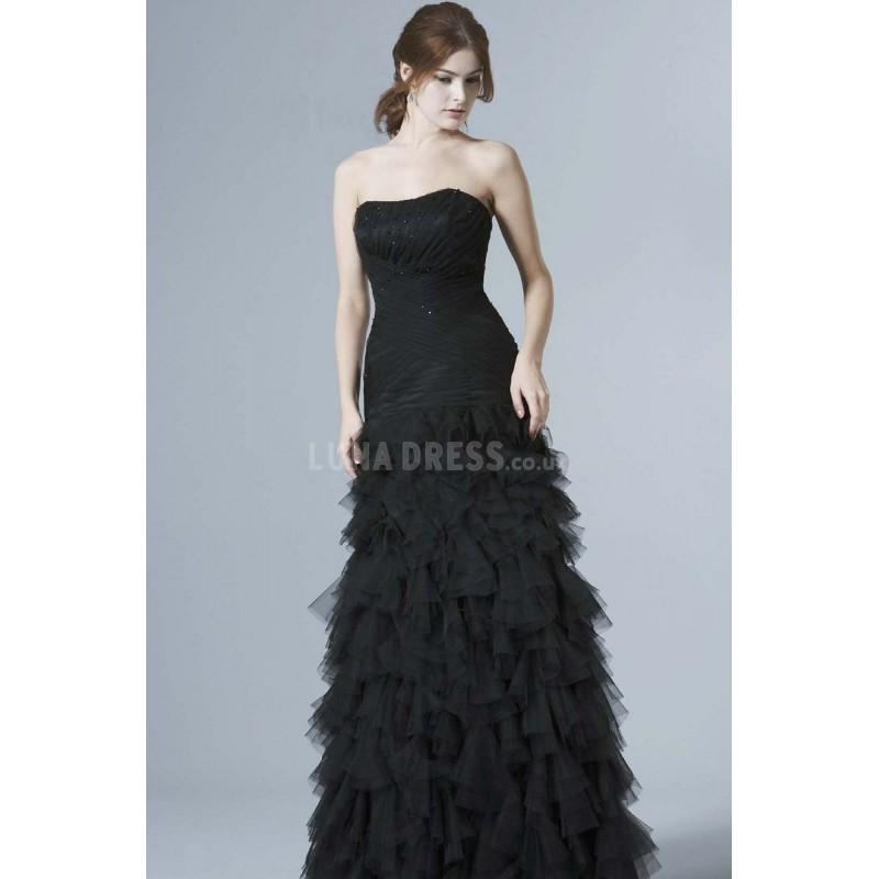 Mariage - Floor Length Fit N Flare Scoop Tulle Mother of the Bride Dress - Compelling Wedding Dresses