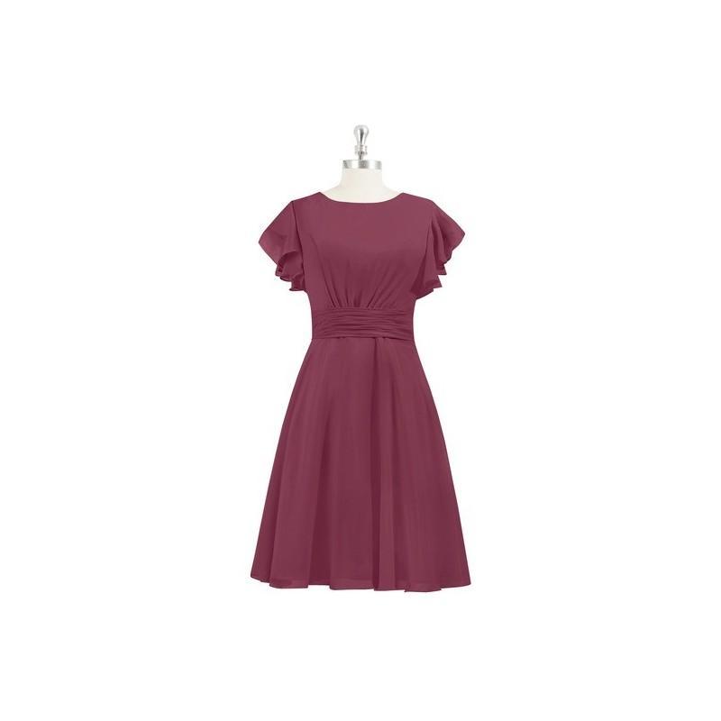 Свадьба - Mulberry Azazie Kaylen - Knee Length Scoop Side Zip Chiffon Dress - The Various Bridesmaids Store