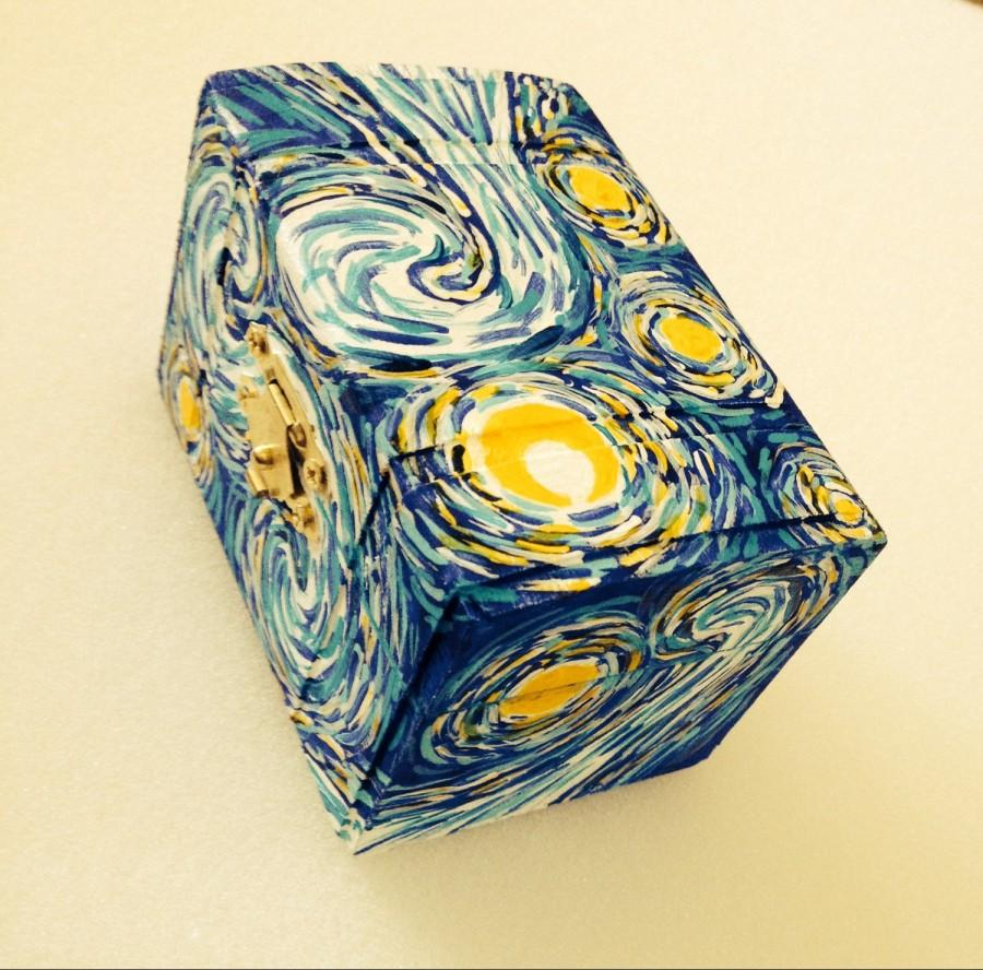 Mariage - Starry Night Ring Box, Van Gogh Ring Bearer, Propsal Ring Box, Engagement Ring Box