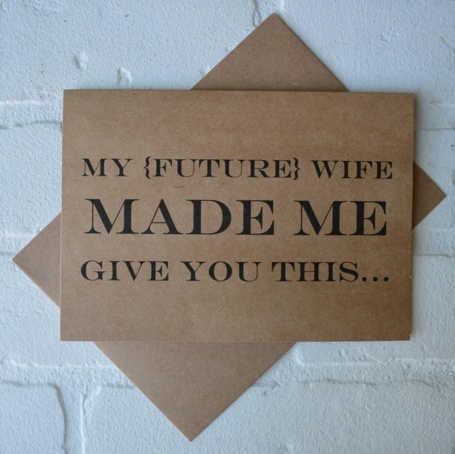 My Future Wife Made Me Will You Be