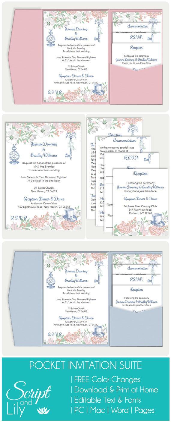 Einladung - Pocket Wedding Invitation Template Set #2652664 - Weddbook