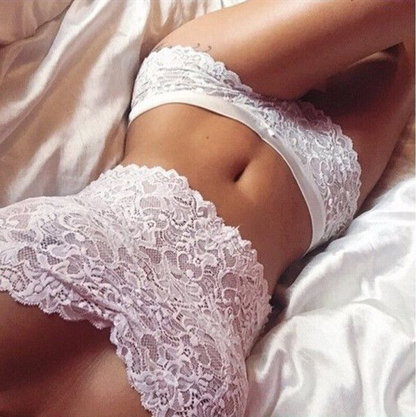 Wedding - Lovely White Lace 2-Piece Underwear Lingerie