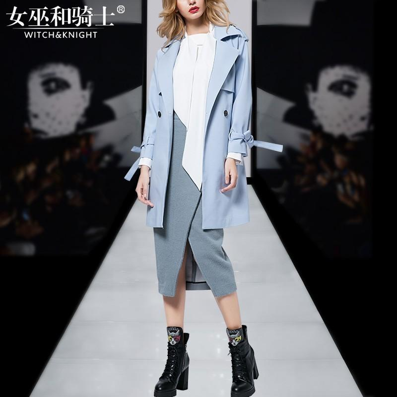 Hochzeit - 2017 autumn new ladies coats women long wind casual single-breasted trench coat - Bonny YZOZO Boutique Store