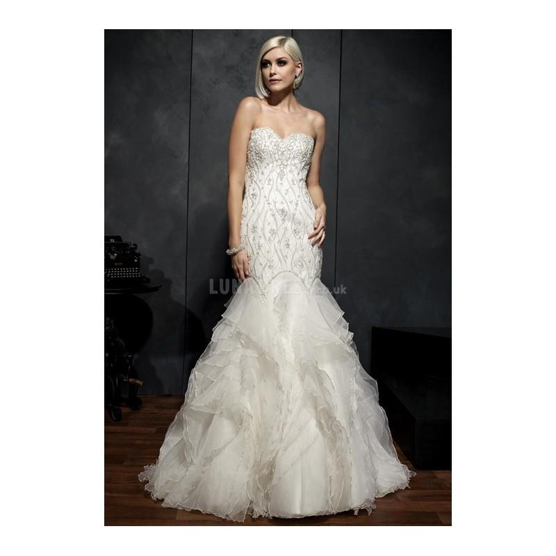 Свадьба - Luxurious Mermaid Organza Floor Length Sweetheart Wedding Dress With Beaded Embroidery - Compelling Wedding Dresses