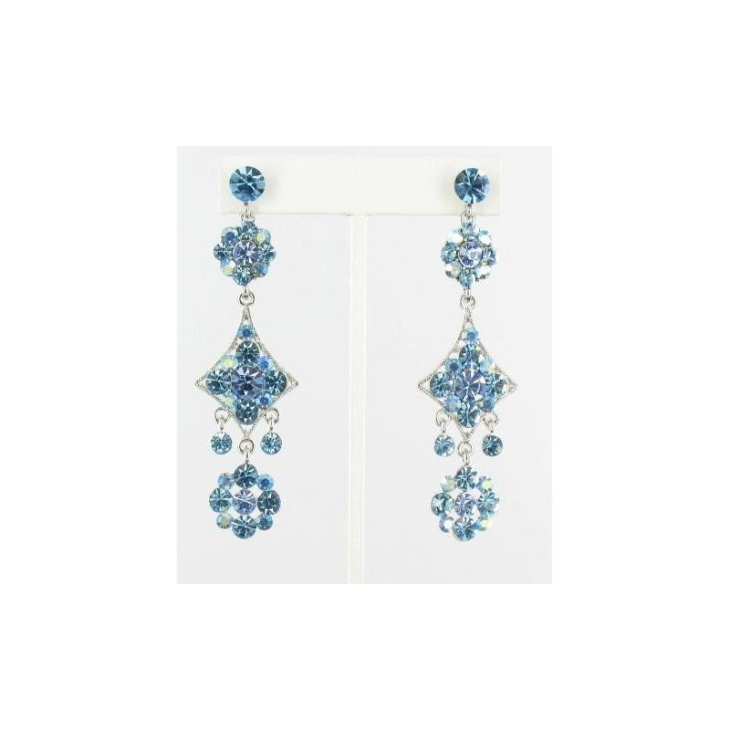 Свадьба - Helens Heart Earrings JE-X006587-1392-Silver-Aqua-Blue Helen's Heart Earrings - Rich Your Wedding Day
