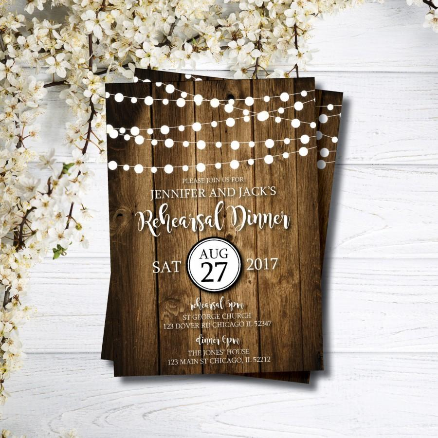 rehearsal dinner invitation formal rehearsal invitations rustic
