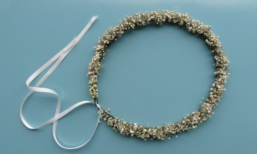Mariage - baby's breath crown