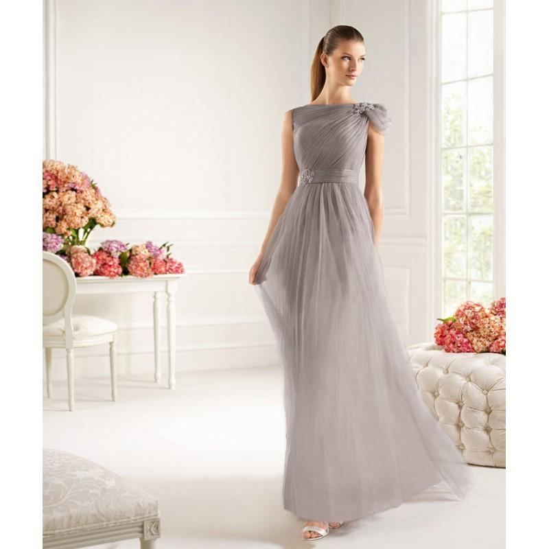 Wedding - Charming A-line Off-the-shoulder Beading Ruching Floor-length Tulle Cocktail Dresses - Dressesular.com