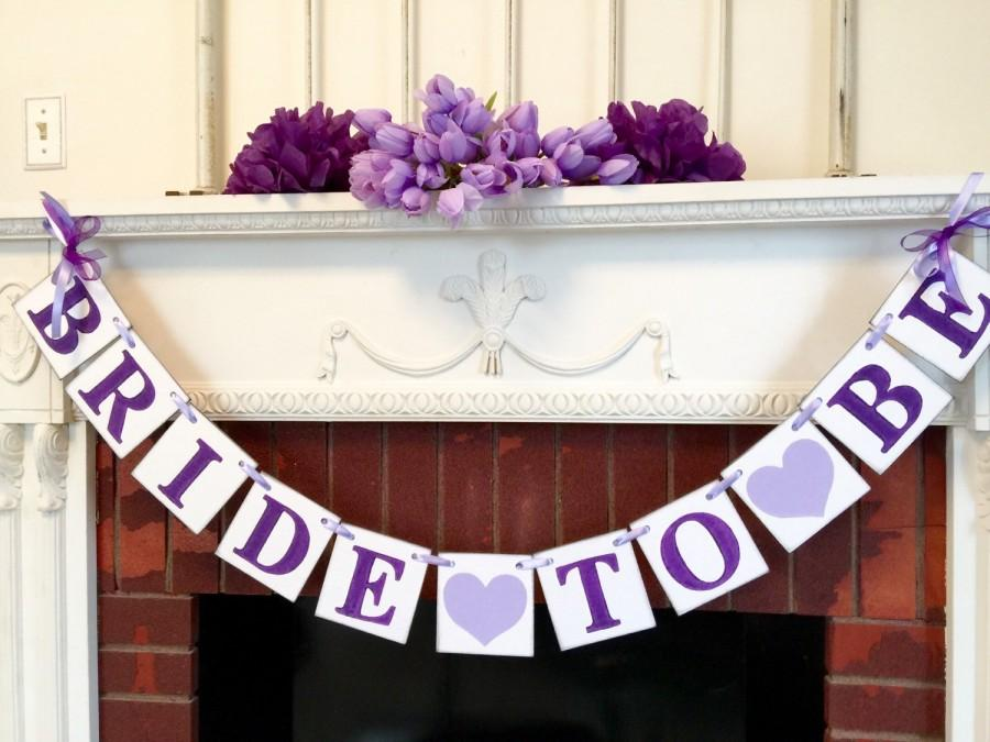 purple bridal shower decorations bride to be banner bachelorette party sign purple bridal shower decor you pick the colors