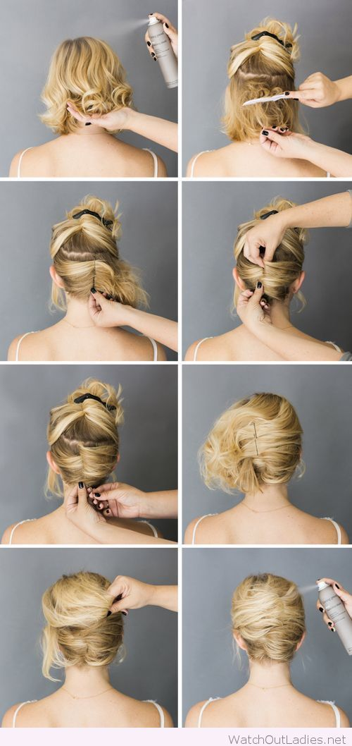 Mariage - Simple Short Hair Updo Tutorial