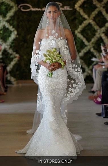 Свадьба - Women's Oscar De La Renta 'Snowflake' Applique Veil