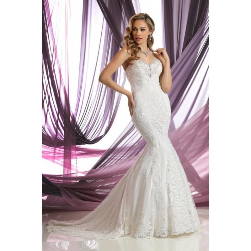 Свадьба - Style 50386 by DaVinci Bridal - Fit-n-flare Sleeveless Floor length LaceTulle Sweetheart Semi-Cathedral Dress - 2017 Unique Wedding Shop