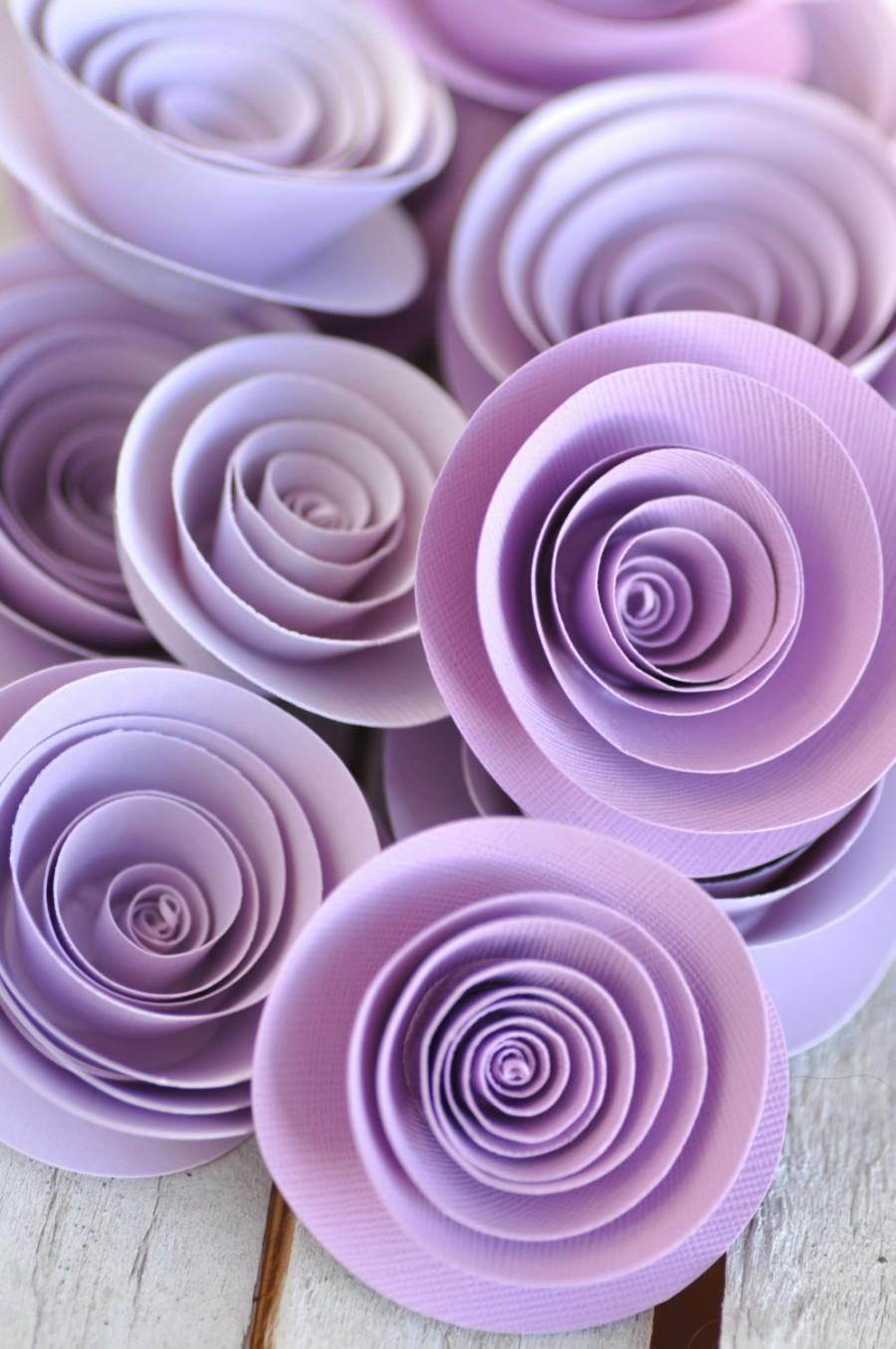 Paper Flowers Lavender Wedding Table Decorations 25