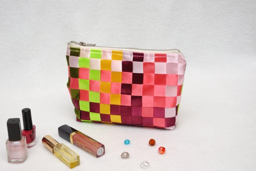 Wedding - Cosmetic bag Womens gift ideas Toiletry bag Make up bag Cosmetic case Cosmetic organizer Travel Tote Rainbow bag Fabric Bag Makeup bag 999
