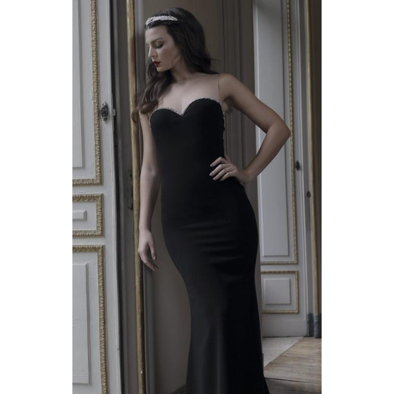 Black Beaded Embellished Gown By Tarik Ediz Couture Color Your