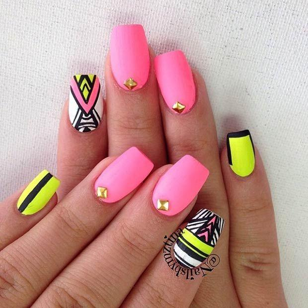 زفاف - Eye-Catching Summer Nail Art Designs