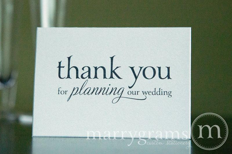 Hochzeit - Wedding Card to Your Wedding Planner or Coordinator -- Thank You for Planning Our Wedding - Vendor Thank You Note CS08
