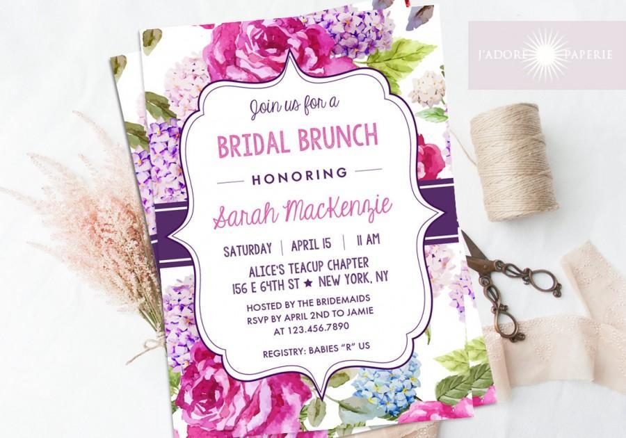bridal brunch invitation bridal shower invite printable shower