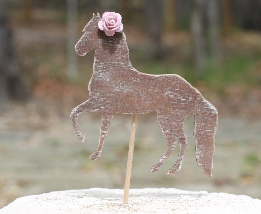 Mariage - Horse Cake Topper Birthday Wedding Western Cupcake Topper Childrens Birthday