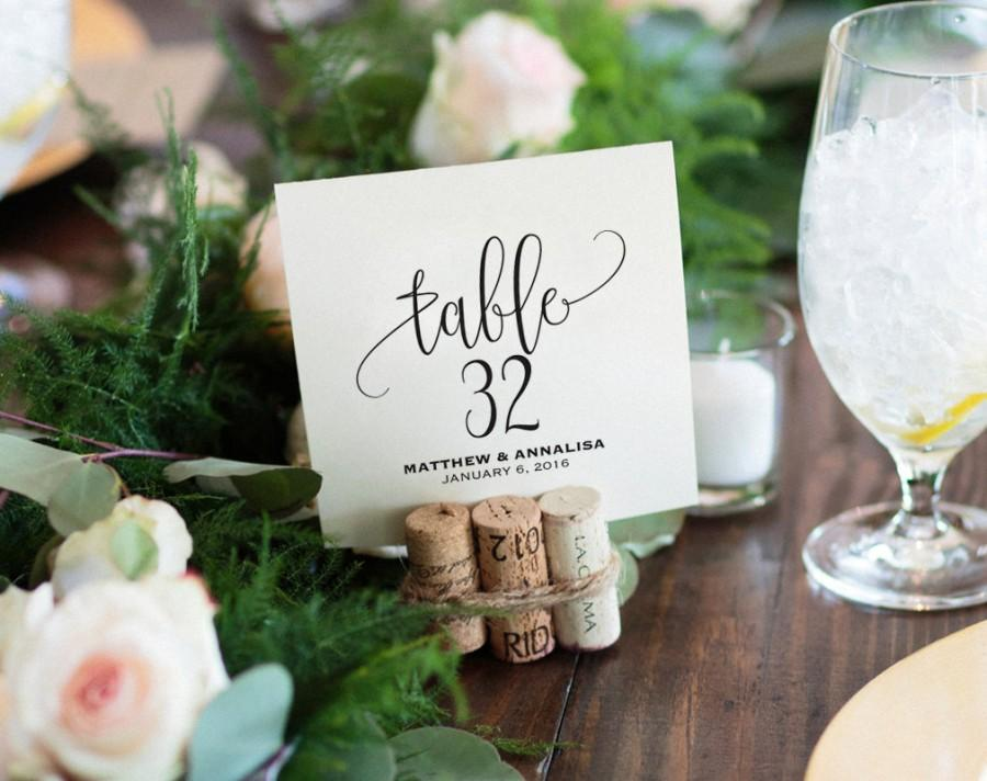 Wedding - Table Numbers Printable, Wedding Table Numbers, Table Number Template, Wedding Printable, Wedding Ideas, PDF Instant Download