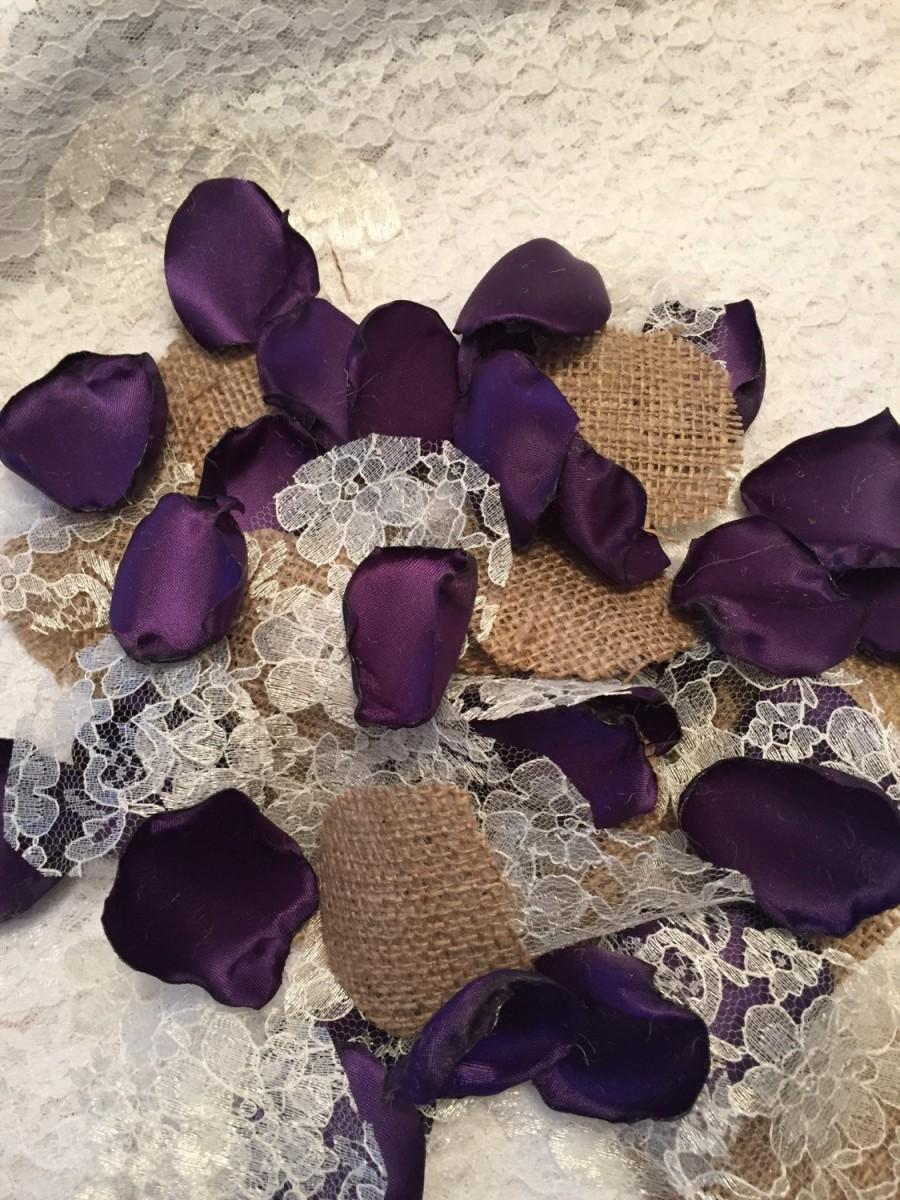 Hochzeit - Rustic Purple Rose Petals/Dark Purple Petals/Country Wedding/Barn Wedding/Rustic Petals/Grappa Petals/Rose Petals/Rustic Wedding