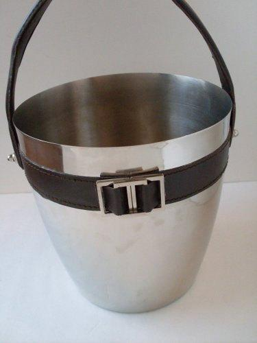 Hochzeit - Vintage Equestrian Leather Stainless Steel Ice Bucket  TheWarehouseShelf Collectibles We Ship Internationally