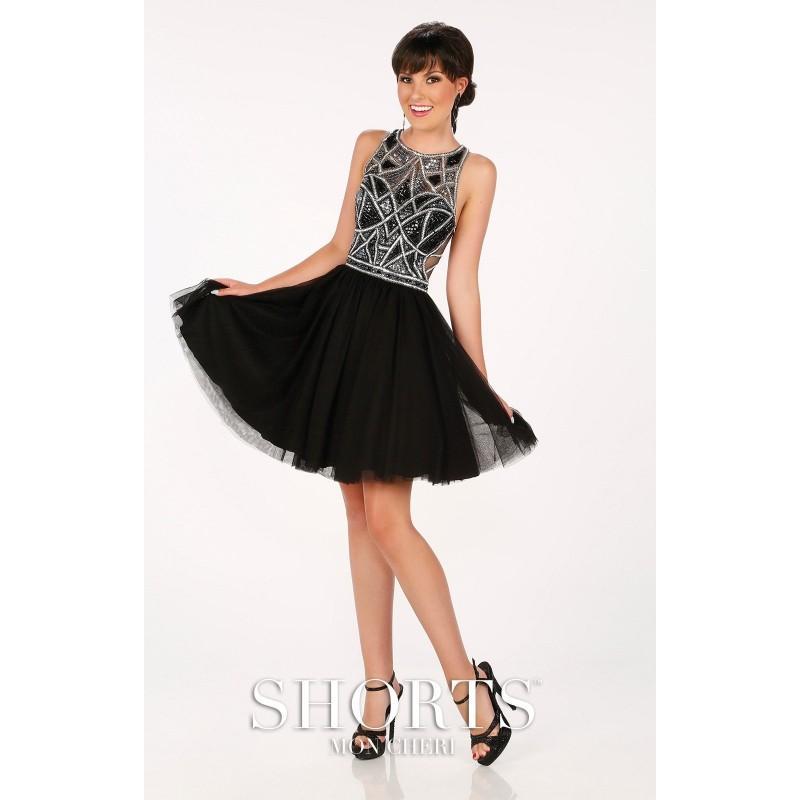 زفاف - Black Mon Cheri MCS11620 - Short Chiffon Dress - Customize Your Prom Dress
