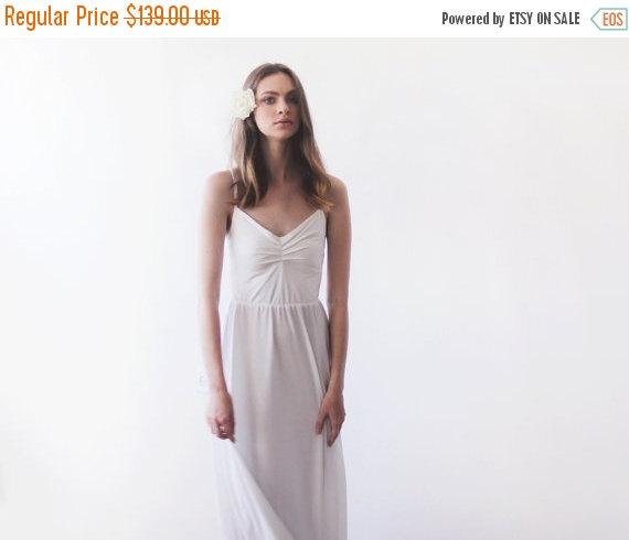 Wedding - SALE Ivory maxi ballerina gown, Sweetheart neckline wedding dress, Minimal wedding dress 1064