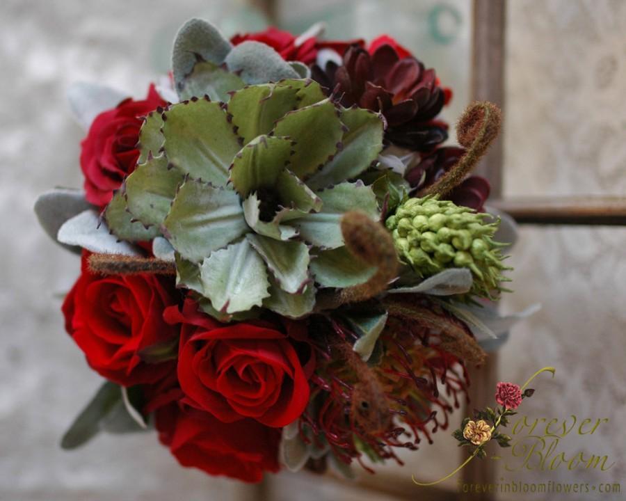 Hochzeit - Real Touch Wedding Bouquet / Succulent Wedding Bouquet / Real Touch Succulent Wedding Bouquet / Silk Wedding Bouquet / Rose Wedding Bouquet