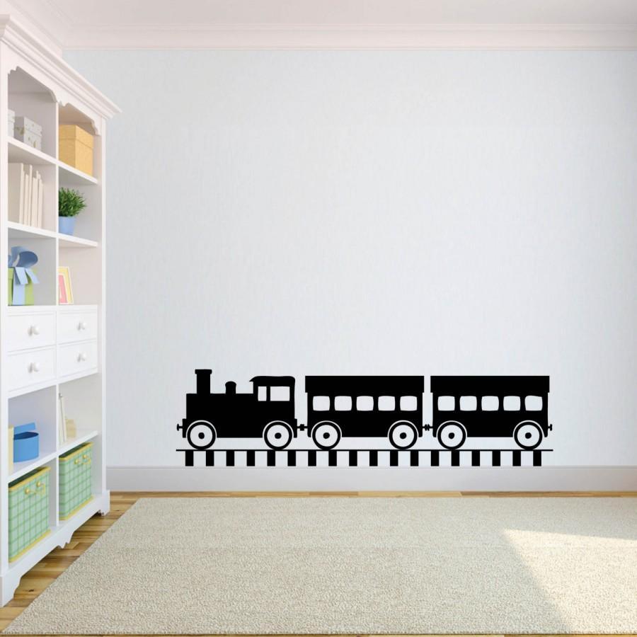 Hochzeit - Nursery Wall  Decal - Choo Choo Train Decal - Kid's Room Decor - Train Decal - Nursery Decor - Nursery Decal