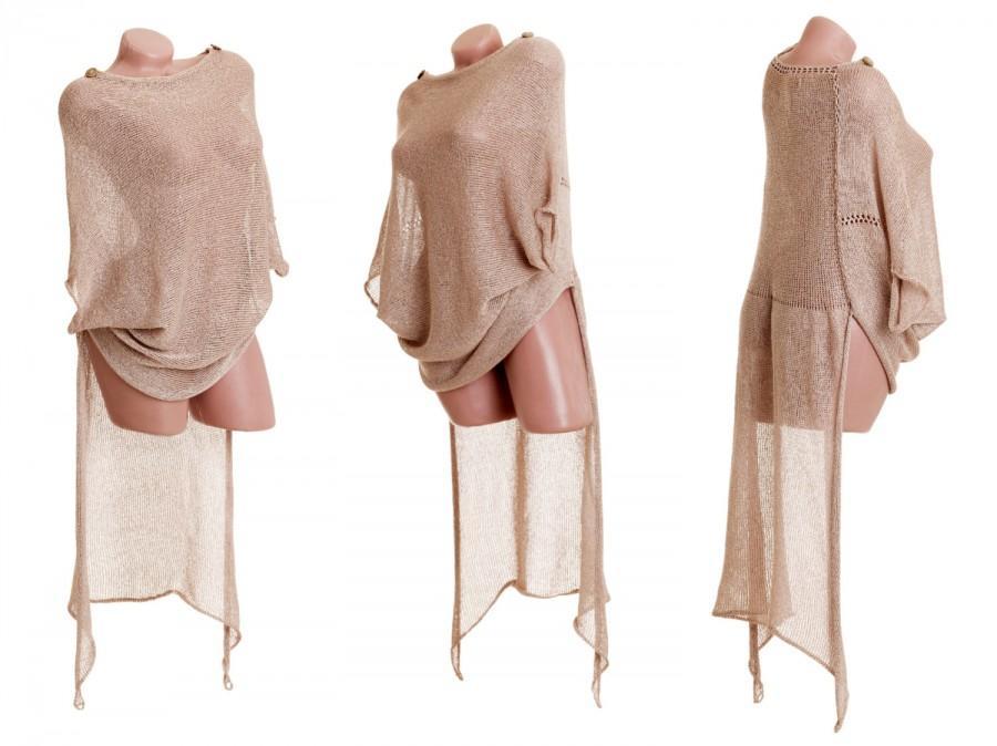 Hochzeit - High low sweater, Asymmetric knit tunic, Layered sweater tunic, Knit women's tailcoat sweater, High low top