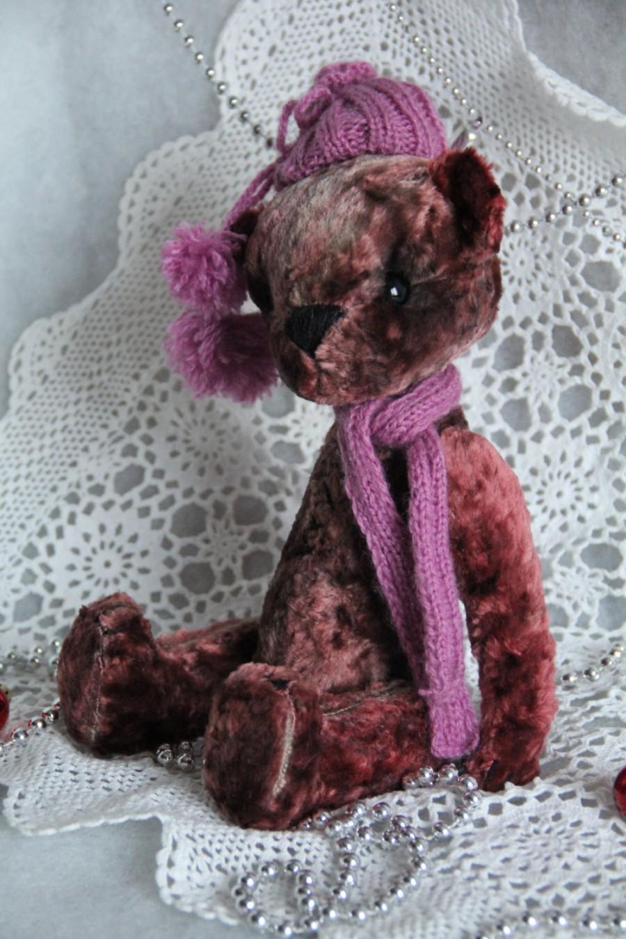 Hochzeit - Art collectible toy teddy bear. Height 11.8 inch (30 cm).