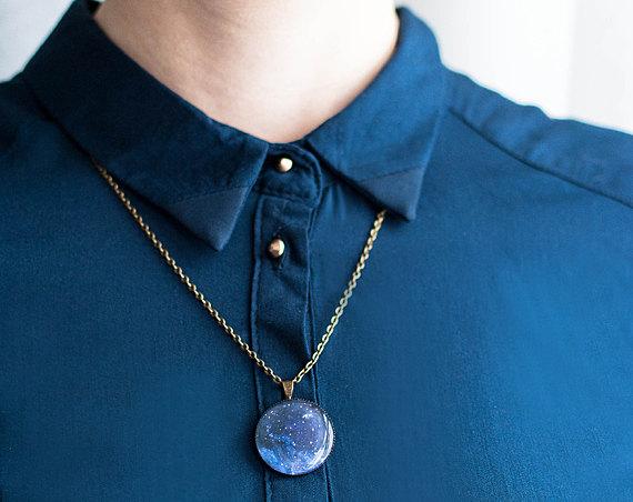 Hochzeit - Constellation necklace astronomy jewelry galaxy necklace nebula
