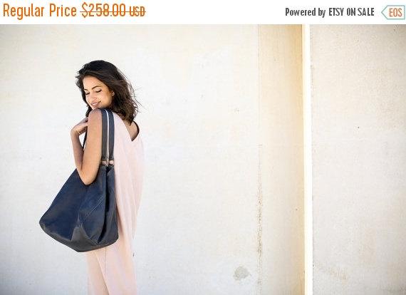 Hochzeit - Sale Gray Leather Sac Bag, Women Tote Bag, Gray Tote Leather Bag, Large Handbag, Hobo Bag