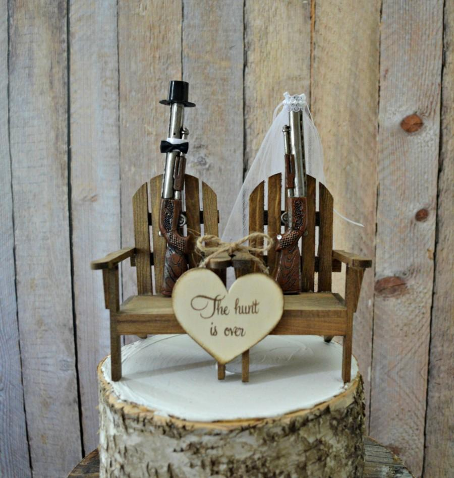 Shot Gun Hunting Themed Wedding Cake Topper Groom S Cake