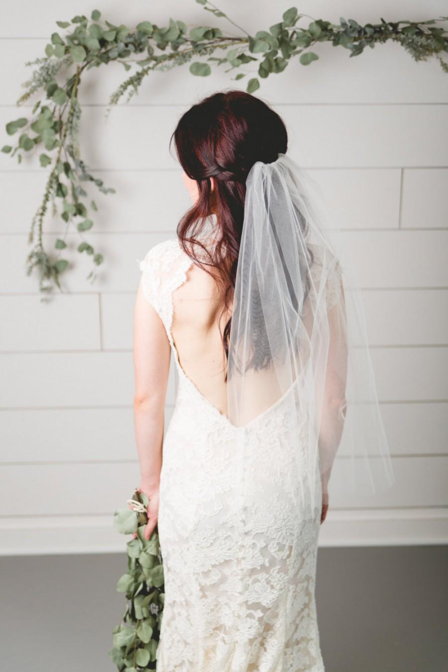 Свадьба - Bridal tulle elbow length veil