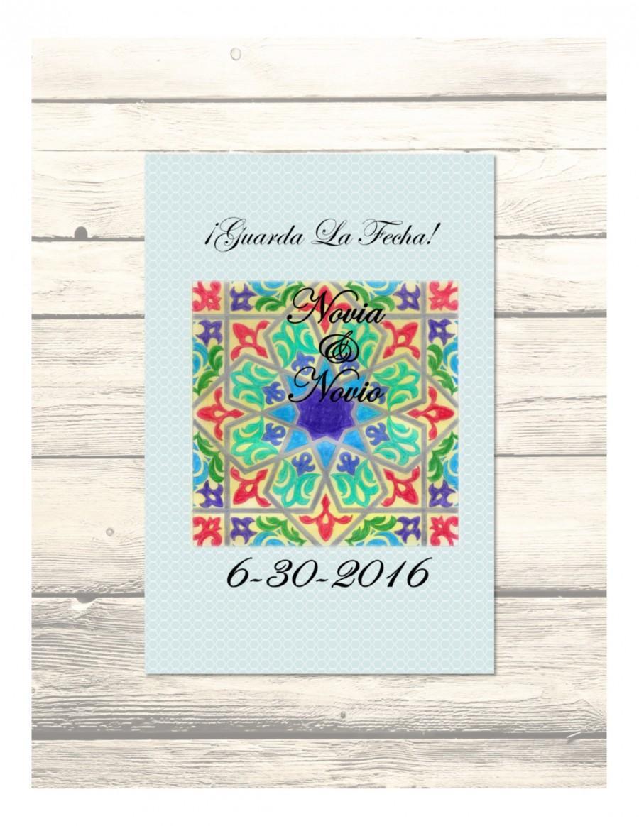Hochzeit - Alcazar Wedding Save the Date Cards in Spanish Customizable - Printable Digital Download