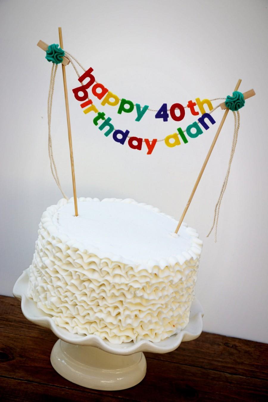 Birthday Cake Banner