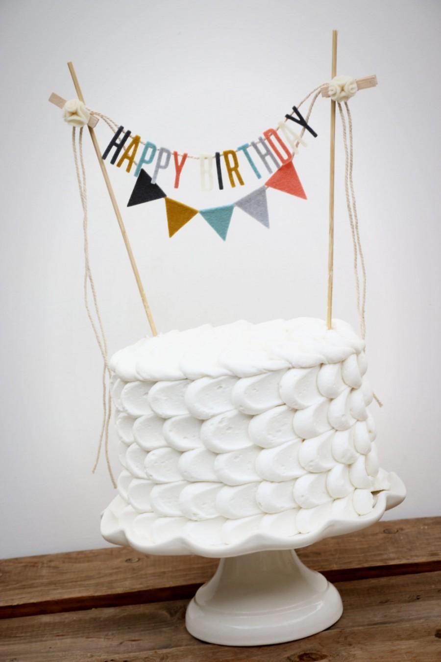 Свадьба - Personalized Cake Banner, Birthday Cake Banner, Custom Cake Banner, Custom Cake Garland, Personalized Cake Garland