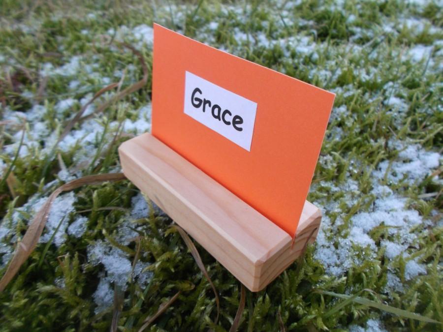 Mariage - 50 Wood place card holders, Table number holders, Wedding cardholder, Wedding decor, Cafe, Restaurant table number holder, Wedding, Rustic