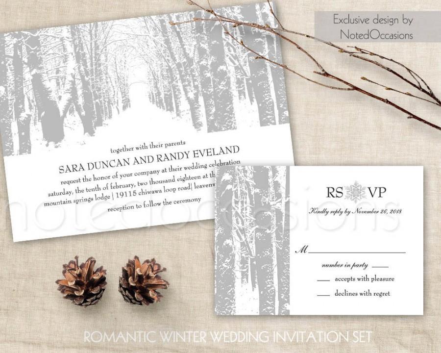 winter wedding invitation printable christmas wedding invitation and