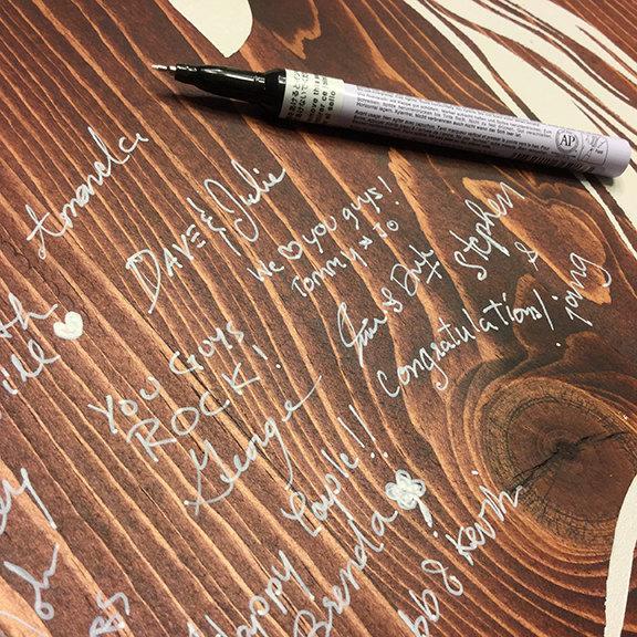 Wedding - Wedding Pens - Wood guestbook marker - Archival Pens - Guestbook pen- Wedding guest book pen - White Marker -  gold marker for wood - pens