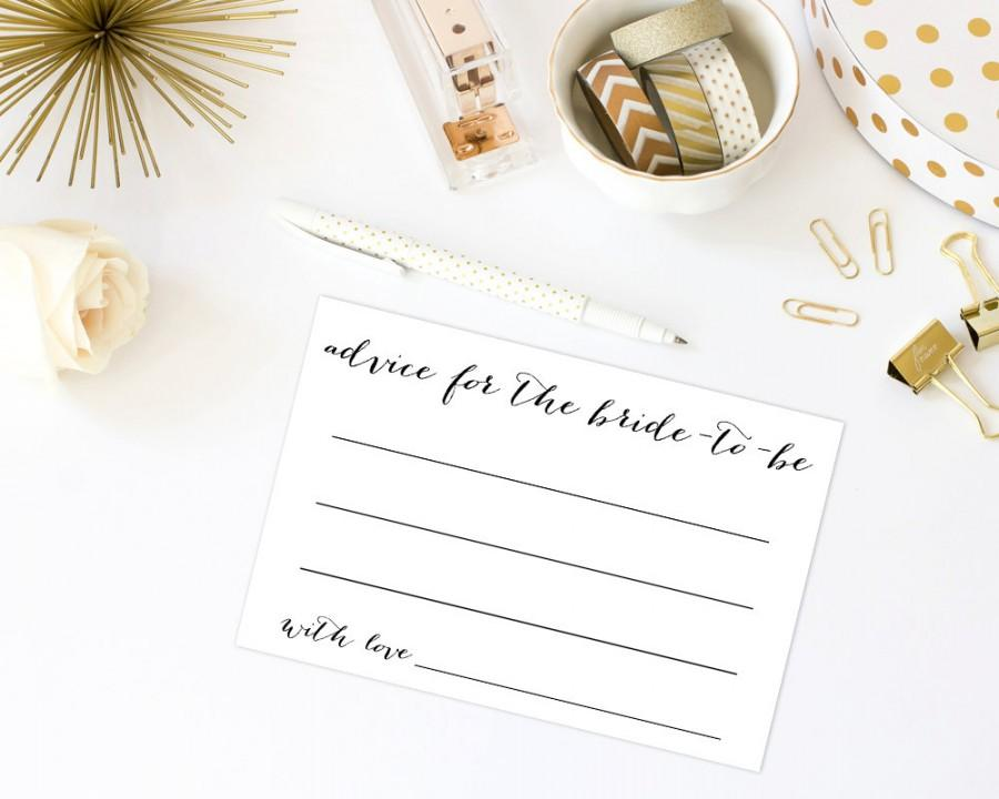 advice for the bride 4x6 advice cards printable template bridal shower game advice cards wedding shower advice cards wset2