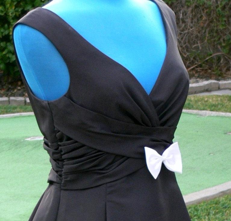Mariage - Black and white Ball Dress size 10