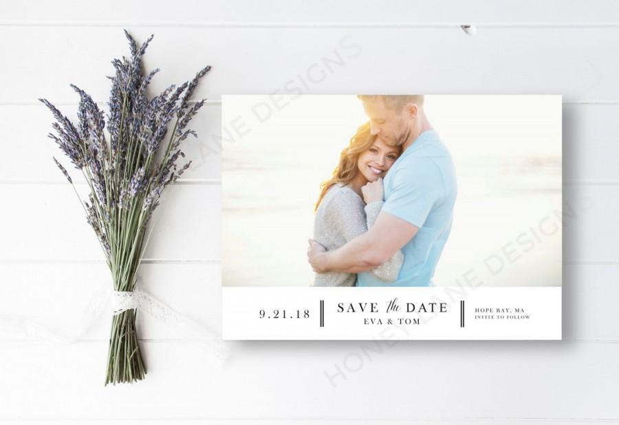 Свадьба - Personalised Printable, Save-the-Date-Printable Card - Eva Collection