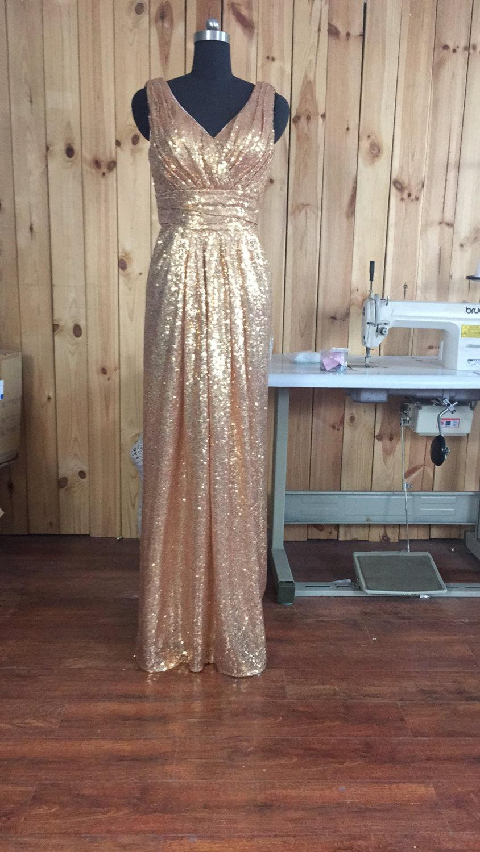 Mariage - Sequin Bridesmaid Dress royal blue/ gold Long Sequins Prom Dresses 2017/ Floor Length Bridesmaid dresses, Sequin Evening Dress