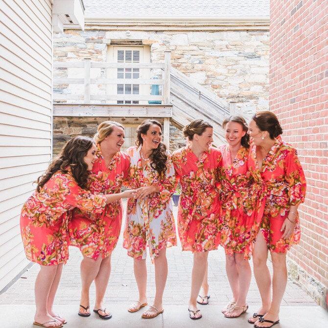Mariage - Set of 11 Bridesmaids robes
