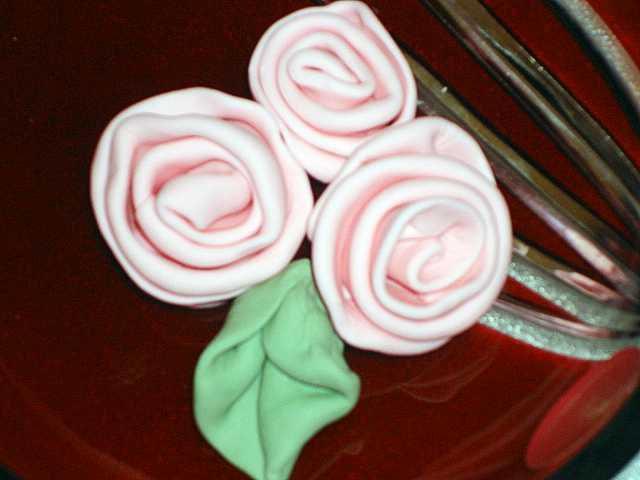 Mariage - Gumpaste Ribbon Roses