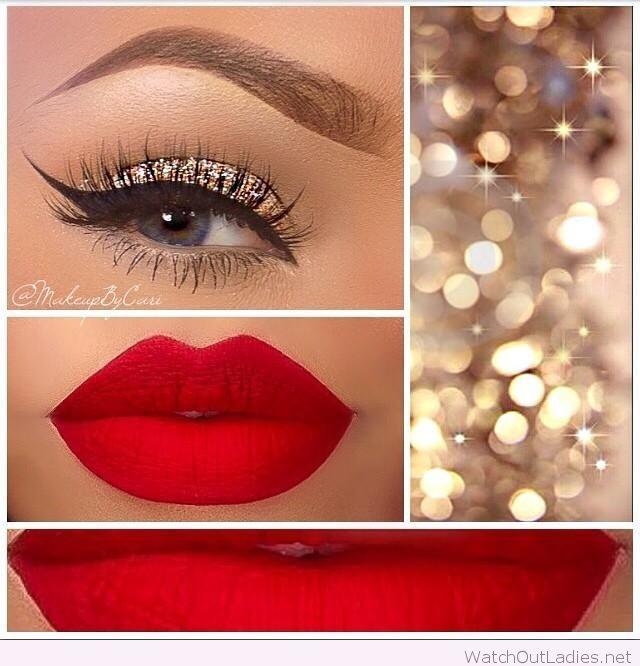 Свадьба - Gold And Red Makeup