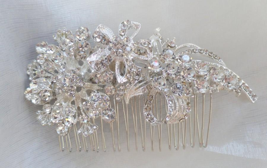 Mariage - Bridal Hair Comb Wedding Hair Comb- Wedding Hair Accessories-Rhinestone Bridal Comb-Crystal Wedding Comb-Bridal Headpiece